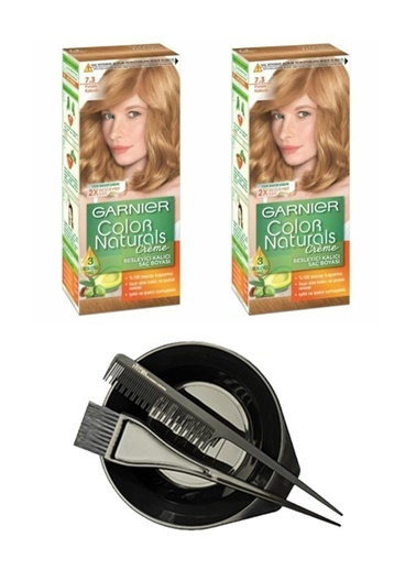 Garnier Garnier 2 Adet Color Naturals Saç Boyası 7.3 + Saç Boyama Seti Renksiz